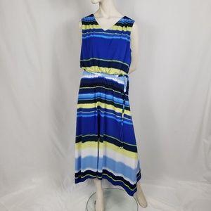 Chico's Stretchy Maxi Dress Women's Size 2 (L)